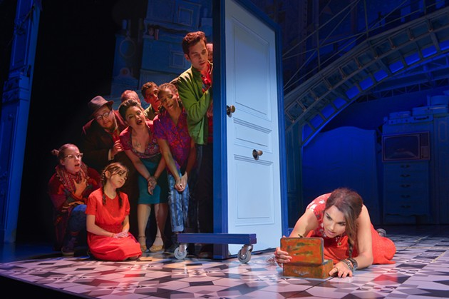 Samantha Barks as Amélie with the cast of Amélie, A New Musical, - KEVIN BERNE