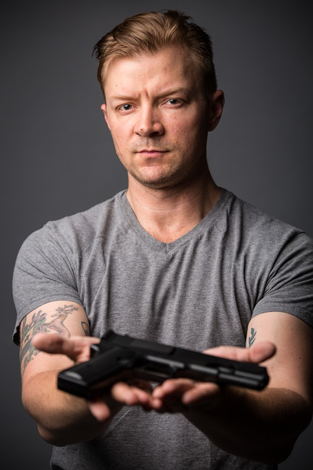 Peter Townley stars in The Gun Show - CHESHIRE ISAACS