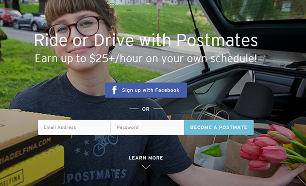SCREENSHOT/POSTMATES.COM/APPLY