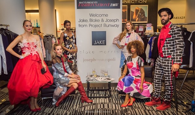 Models showcase garments made by the Project Runway designers using items from Macy's prop room. - SIMPLE2C PHOTO