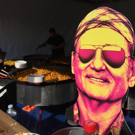 Bill Murray-endorsed paella in golden hour. - PETER LAWRENCE KANE
