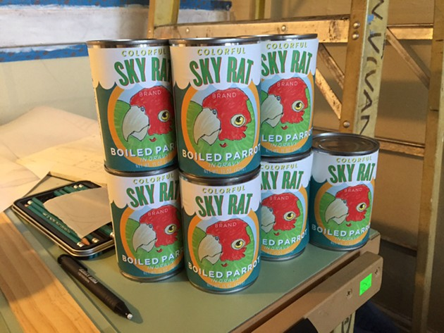 Canned parrots in North Beach? - BRADLEY BALTEZORE