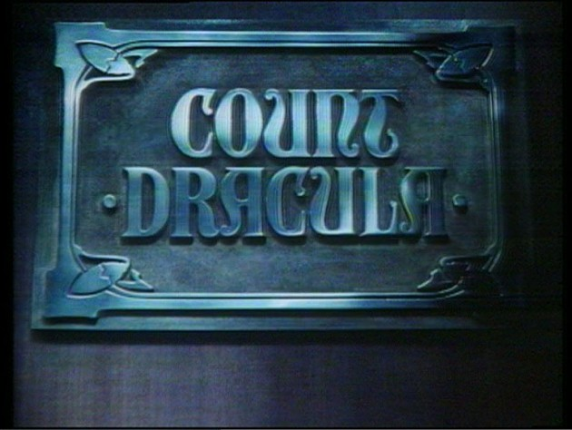 Count Dracula title card - BBC