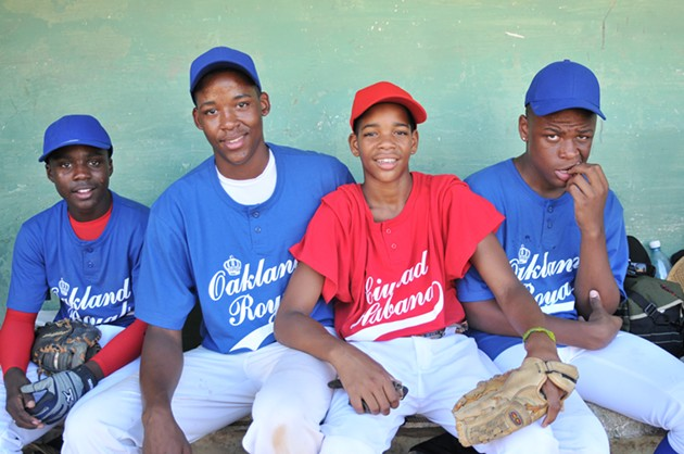 The Oakland Royals little league team are ready for the next inning in Ghost Town to Havana. - GHOST TOWN TO HAVANA WEBSITE