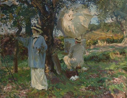 "John Singer Sargent (American, b. Italy, - 1856–1925), ""The Sketchers,""1913. Oil on - canvas. 22 × 28 in. Virginia Museum of Fine - Arts, the Arthur and Margaret Glasgow Fund - © Virginia Museum of Fine Arts"