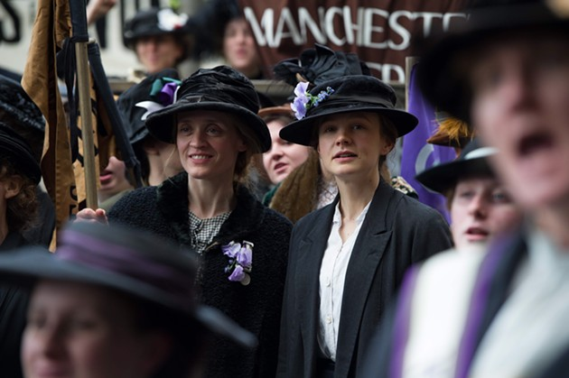 Maud Watts (Carey Mulligan) fights for her right to pick a party in director Sarah Gavron's Suffragette, which opens Oct. 30. - STEFFAN HILL / FOCUS FEATURES