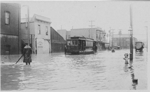 Historic flooding at 17th and Folsom - COURTESY SFPUC