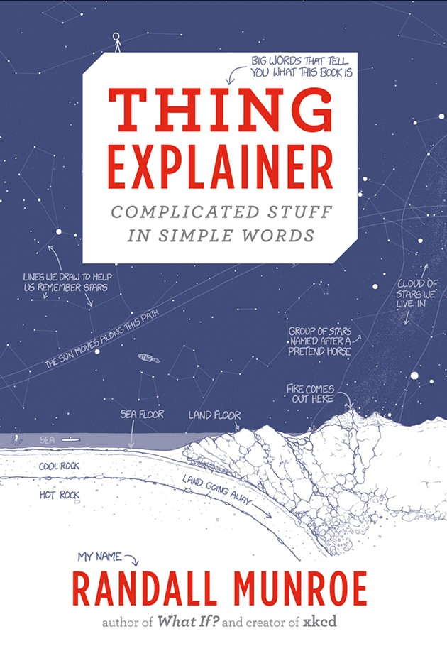 Excerpted from Thing Explainer: Complicated Stuff in Simple Words © 2015 by Randall Munroe. Reproduced by permission of Houghton Mifflin Harcourt. All rights reserved.