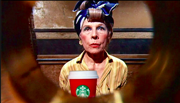 Ruth Gordon and her tannis-spice latte in Rosemary's Baby - MATTHEW JAMES DECOSTER/FACEBOOK