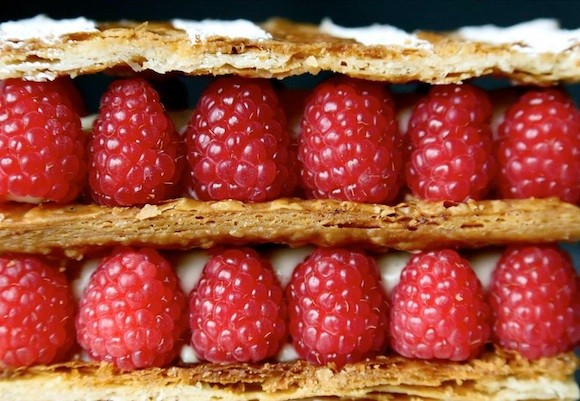 Raspberry Mille-Feuille at Mademoiselle Colette - FACEBOOK/ MADEMOISELLE COLETTE