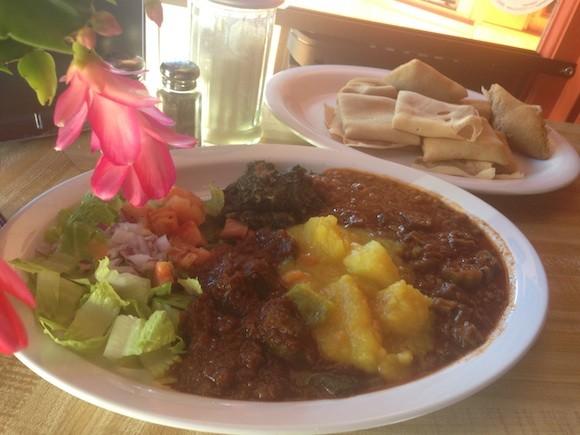 Vegetarian Sampler at Massawa - TREVOR FELCH