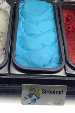 The Marrakech Airport in Morocco has Smurf-flavored gelato! - SCOTT HIRSCH