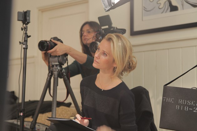 Jennifer Siebel Newsom on set of The Mask You Live In. - THE REPRESENTATION PROJECT