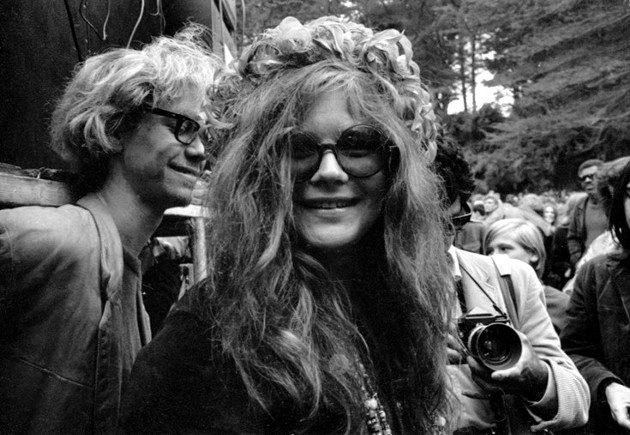 Janis Joplin's humor comes across in Amy Berg's rockumentary Janis: Little Girl Blue, opening Dec. 4. - GETTY IMAGES; MICHAEL OCHS ARCHIVES