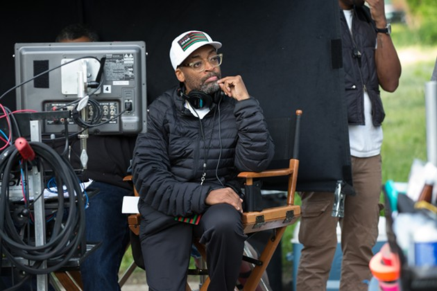 Spike Lee on the set of Chi-Raq. - PARRISH LEWIS/ROADSIDE ATTRACTIONS AND AMAZON STUDIOS
