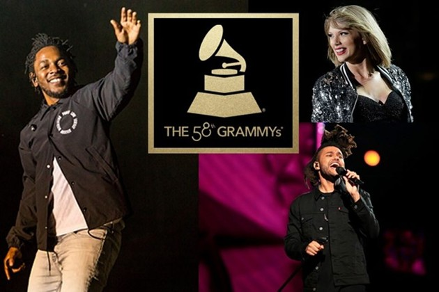 Kendrick Lamar, Taylor Swift, and The Weeknd. - CREDIT: GRAMMY.COM