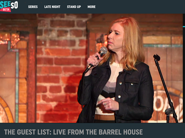 "Screenshot of  Andi Smith on ""The Guest List"" live stream from SeeSo."