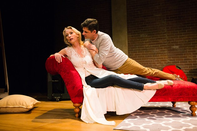 She (Carrie Paff) and He (Gabriel Marin), are former lovers, cast in a play about former lovers. - JESSICA PALOPOLI