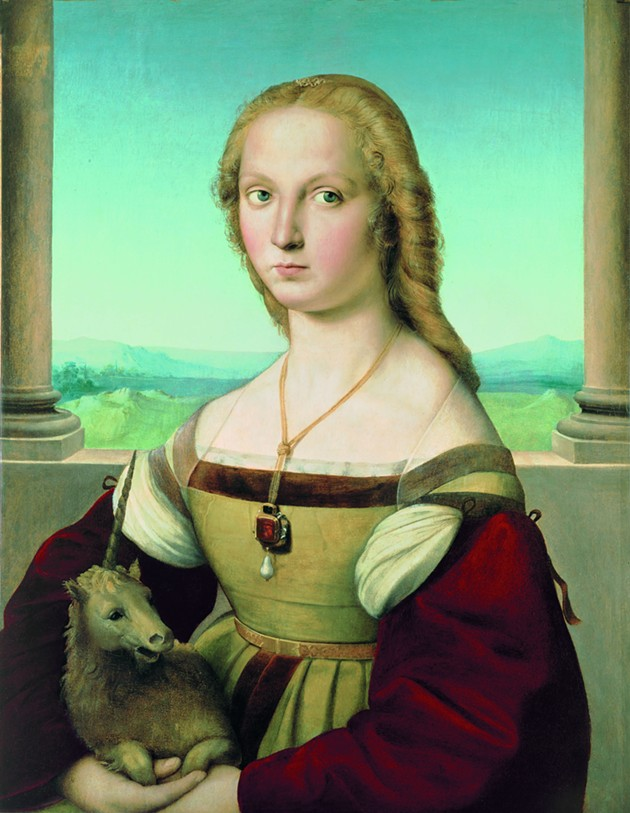 Raphael (1483–1520), Portrait of a Lady with a Unicorn, ca. 1505–1506. Oil on canvas, transferred from panel, 26 5/8 x 20 15/16 in. (67.7 x 53.2 cm). Galleria Borghese, Rome, inv 371