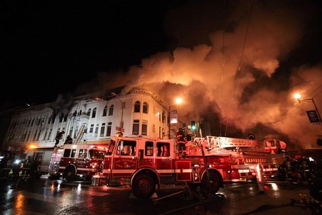 Last year's fatal fire at 22nd and Mission Streets. - GABRIELLE LURIE/SF EXAMINER