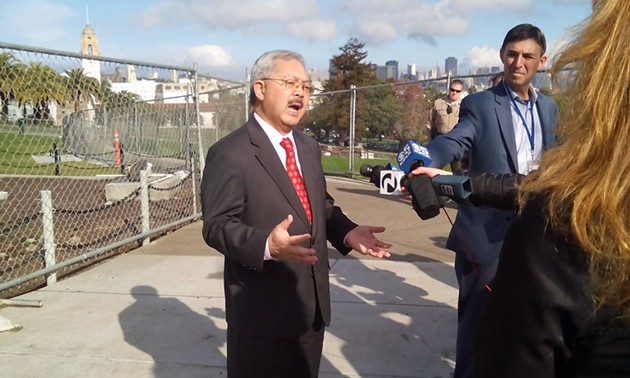 Mayor Lee in Dolores Park today - PHOTO BY ADAM BRINKLOW