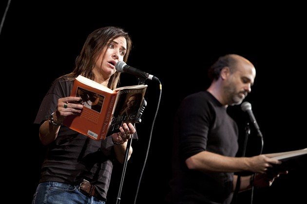 "Pamela Adlon and Scott Adsit at ""Celebrity Autobiography"" - PHOTO: TOMMY LAU"