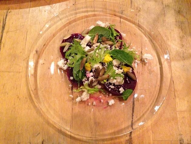 chioggia beets, castel franco radiccio, tomato Provençale - A. K. CARROLL