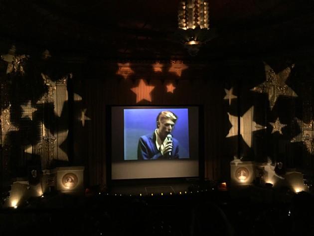 David Bowie tribute at the Castro Theatre. - PHOTO: ZACK RUSKIN
