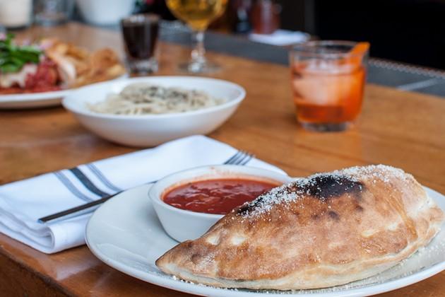 The calzone on Delarosa's late-night menu. - DECLAN MCKERR