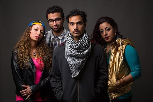 Amor (Shoresh Alaudini, center), Olivia Rosaldo, Mohammad Shehata, and Denmo Ibrahim (left to right). - CHESHIRE ISAACS