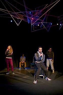 Actors left to right: Olivia Rosaldo, Mohammad Shehata, Shoresh Alaudini, Denmo Ibrahim. - PAK HAN