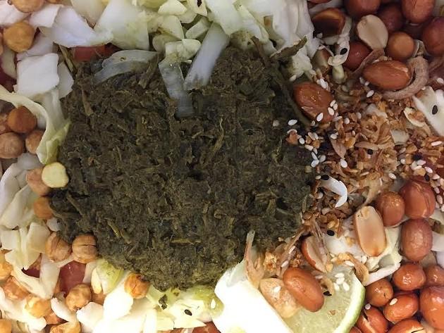 Burmese tea leaf salad. - PETER LAWRENCE KANE