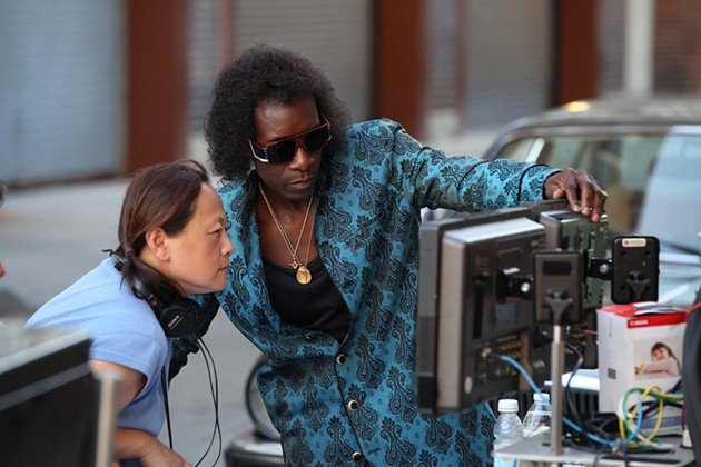 Left to right: Script Supervisor Belle Francisco and Director/Actor Don Cheadle - BRIAN DOUGLAS, COURTESY OF SONY PICTURES CLASSICS