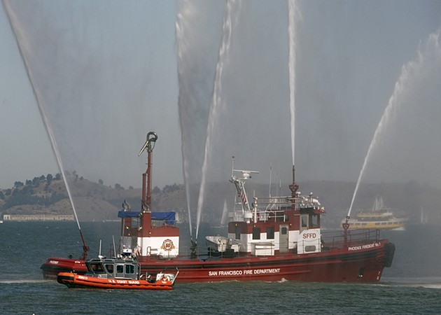 The fireboat Phoenix, which helped put out the flames in the Marina in 1989 after the water supply failed. - WIKIPEDIA