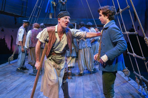 (l to r) Steven Epp (Long John Silver) and John Babbo (Jim Hawkins) in Mary Zimmerman's Treasure Island at Berkeley Rep. - KEVIN BERNE/BERKELEY REPERTORY THEATRE
