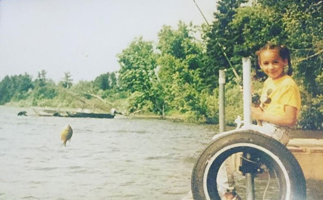 Charise Sowells as a young girl at the Minnesotan lake that inspired her artist name.