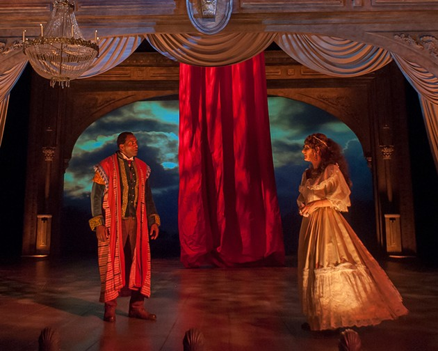 Ira Aldridge (Carl Lumbly) and Ellen Tree (Susi Damilano) perform as Othello and Desdemona at the Covent Garden theatre. - KEN LEVIN