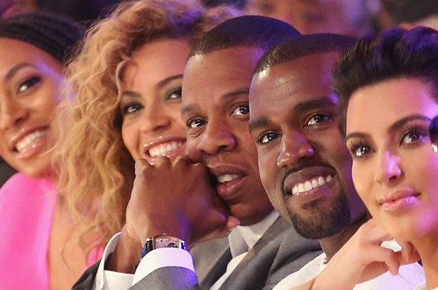 Obligatory photo of Kimye and Bey-Z at the 2012 BET Awards - BILLBOARD