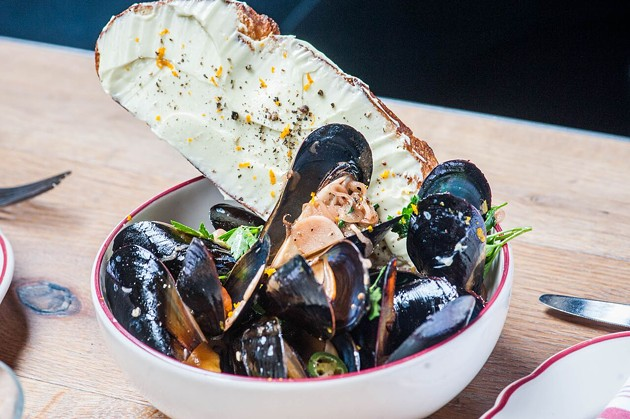 Cockscomb is offering mussels in Negroni for 2016's edition of Negroni Week. - WES ROWE