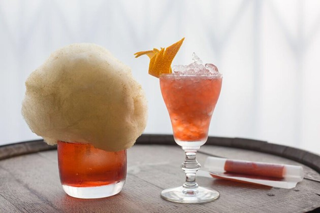 Tradition breaks tradition with Negroni fruit roll-ups and gin cotton candy as a garnish. - GRACE SAGER