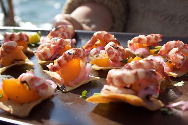 Channel Island Ridgeback prawn ceviche - ALI WUNDERMAN