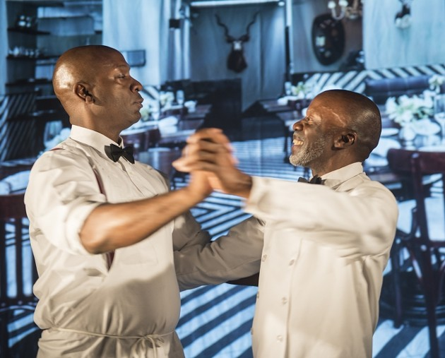 """Adrian Roberts and L. Peter Callender in a scene from """"Master Harold"""" - L.PWE"""