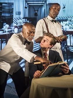 """L. Peter Callender, Andrew Humann and Adrian Roberts in""""Master Harold"""" - DAVID ALLEN"""