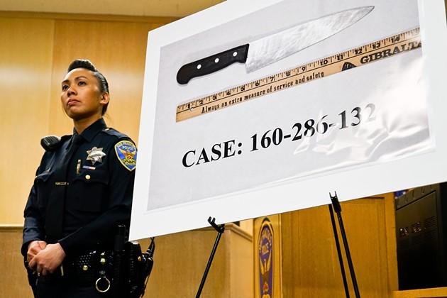 Luis Gongora's  knife. - SF EXAMINER/FILE PHOTO