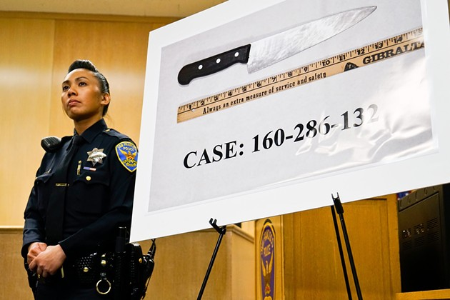Luis Gongora's  knife. - SF EXAMINER/FILE PHOTO