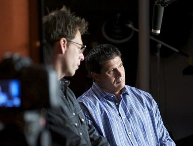 Film Director Bill McAdams, Jr. on the set with Jose Canseco - BO PARKER