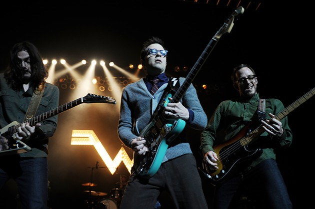 Weezer are one of the concerts you can use your free tickets or codes for. - (PHOTO JEFF DALY/INVISION/AP)