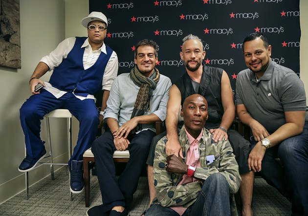 [Left to right] Former Madonna dancers and stars of Strike a Pose: Oliver Crumes III,  Salim Gauwloos, Kevin Stea, Carlton Wilborn, and Luis Camacho once tap danced around certain truths. - ACT OUT PHOTOGRAPHY BY JIM NORRENA