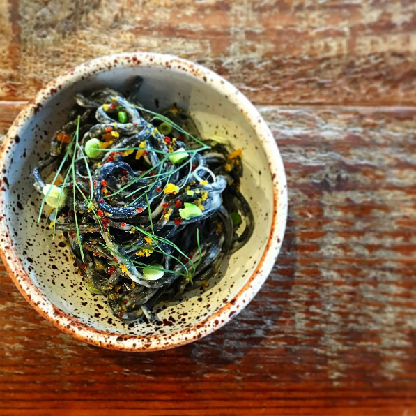 Squid ink noodles - OCTAVIA/INSTAGRAM