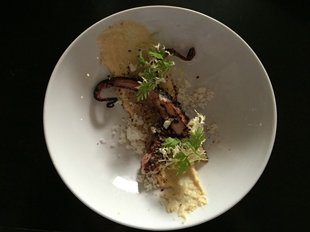 Grilled octopus - NICHOLAS HURLBURT